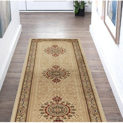Clarence Beige/Tan Area Rug Rug Size: Rectangle 2  x 10