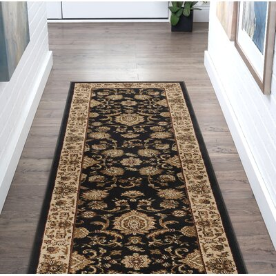 Clarence Black/Beige Area Rug Rug Size: Rectangle 2 x 10