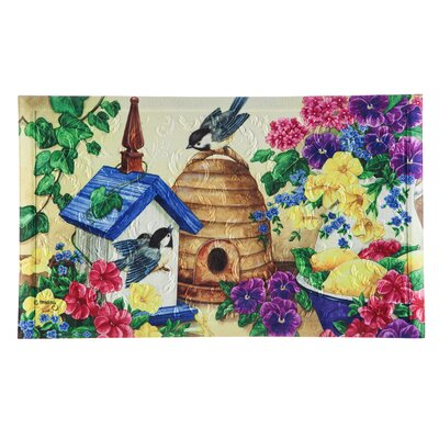 Borrero Feathers and Flowers Embossed Doormat