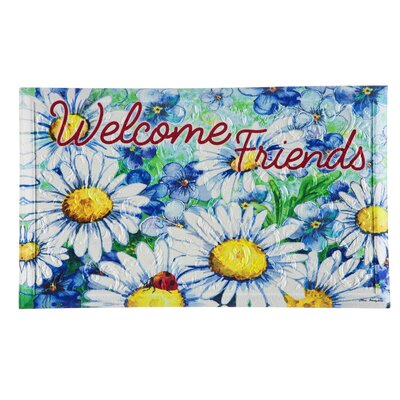 DeLussey Daisy Welcome Embossed Doormat