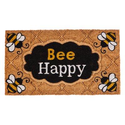 DeLussey Bee Happy Coir Doormat