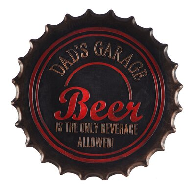 DeLussey Dads Garage Bottle Cap Rubber Doormat