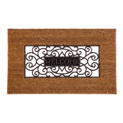 Columbard Cutout Welcome Scroll Coir Doormat