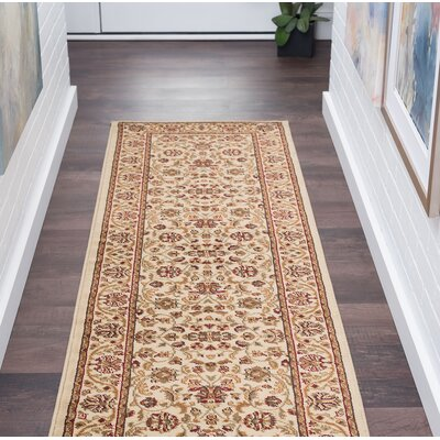 Clarence Beige Area Rug Rug Size: Rectangle 2 x 10