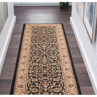 Clarence Black/Brown Area Rug Rug Size: Rectangle 2 x 10