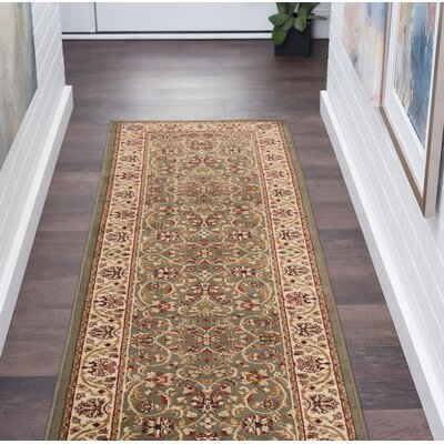 Clarence Green Area Rug Rug Size: Rectangle 2 x 10