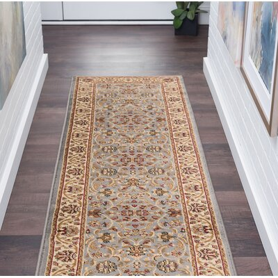 Clarence Blue Area Rug Rug Size: Rectangle 2 x 10