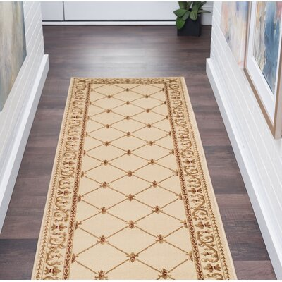 Clarence Ivory Area Rug Rug Size: Rectangle 2 x 10