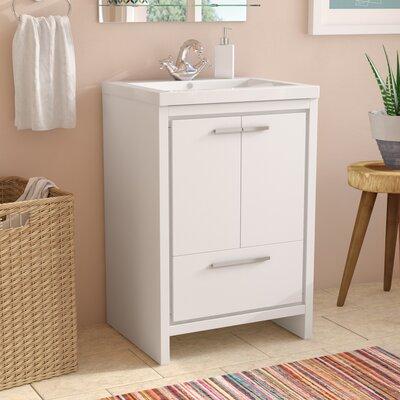 Melillo 23.5 Free Standing Modern Bathroom Vanity Base Finish: High Gloss White