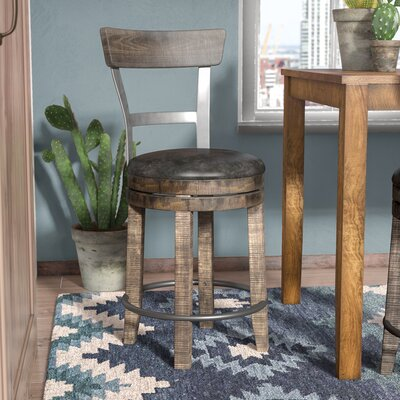 Arianna 24 Bar Stool Finish: Tobacco Leaf