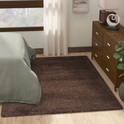 Rowen Brown Area Rug Rug Size: Rectangle 53 x 76