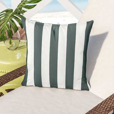 Montego Outdoor Throw Pillow Color: Green