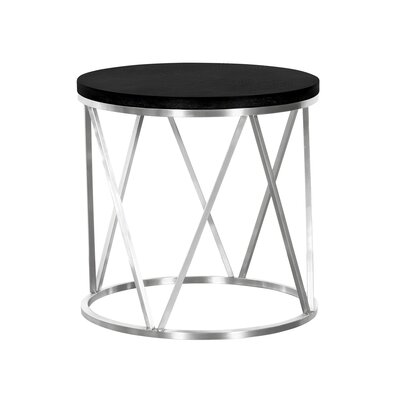 Humberwood Contemporary Round End Table Table Top Color: Black