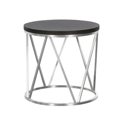 Humberwood Contemporary Round End Table Table Top Color: Gray