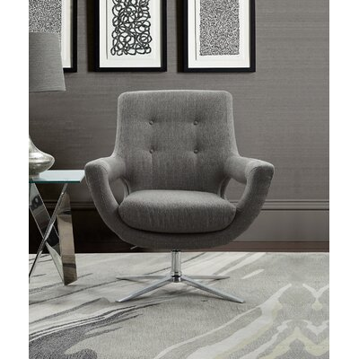 Humiston Contemporary Adjustable Swivel Armchair