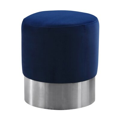 Klass Contemporary Round Ottoman Upholstery: Blue