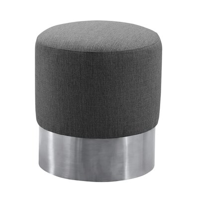 Klass Contemporary Round Ottoman Upholstery: Gray