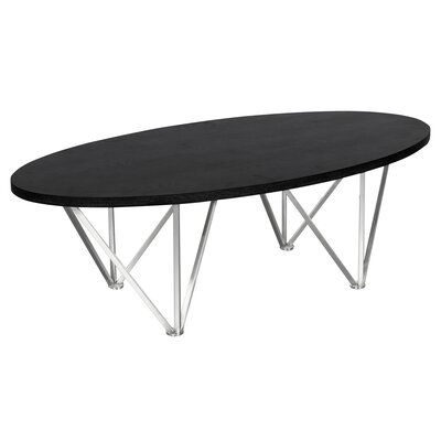 Humberwood Contemporary Oval Coffee Table Table Top Color: Black