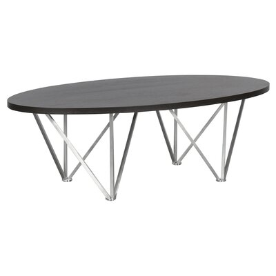 Humberwood Contemporary Oval Coffee Table Table Top Color: Gray