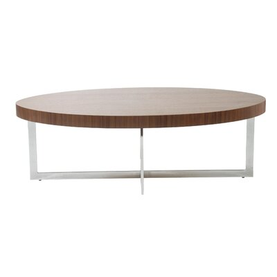 Annia Oval Coffee Table Color: Walnut
