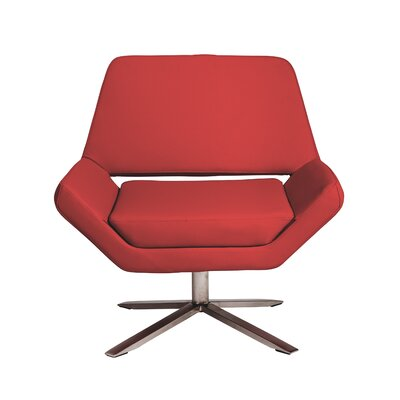 Cohen Lounge Chair Upholstery: Red