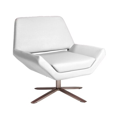 Cohen Lounge Chair Upholstery: White