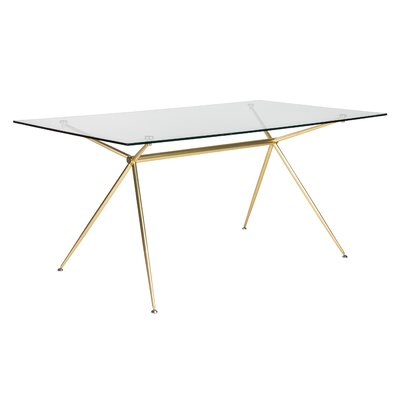 Berndt Rectangle Dining Table Size: 29.7 H x 66 W x 36 D