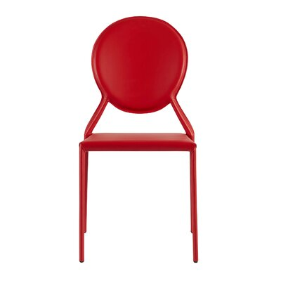 Isabella Side Chair Color: Red