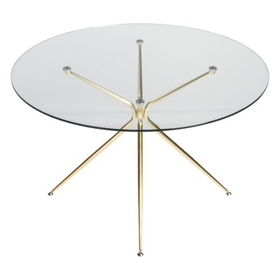 Berndt Dining Table Color: Matte Brushed Gold