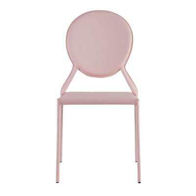Isabella Side Chair Color: Pink
