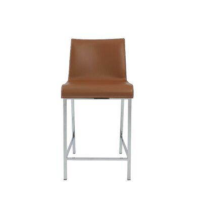 Arevalo Counter 24 Bar Stool Color: Cognac