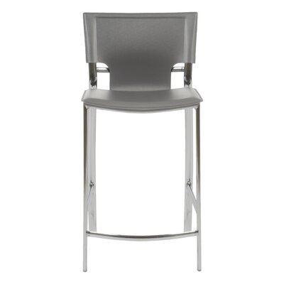 Edmond 24 Bar Stool Upholstery: Gray