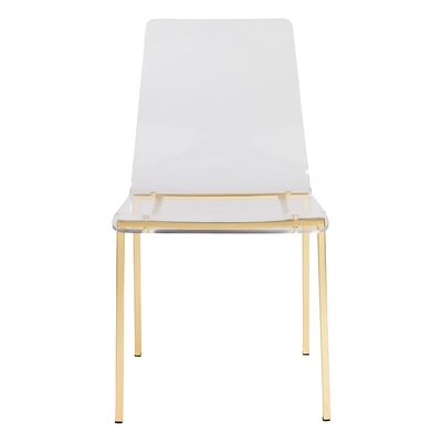Rey Dining Chair Leg Color: Brushed Gold