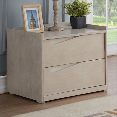 Whitley 2 Drawer Nightstand