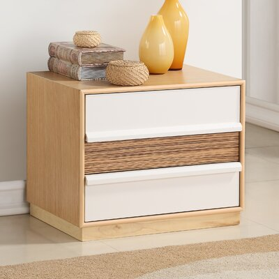 Whitlock 2 Drawer Nightstand