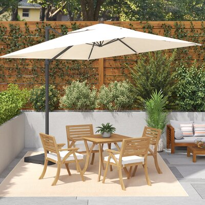 10' Square Cantilever Umbrella Color: Beige