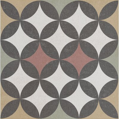 Bouquet 9.25 x 9.25 Porcelain Field Tile in Criollo