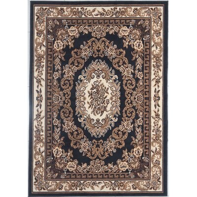 Legros Black/Brown Area Rug Rug Size: Rectangle 711 x 910