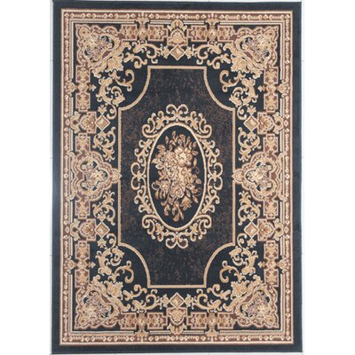 Halbert Black/Brown Area Rug Rug Size: Rectangle 53 x 72