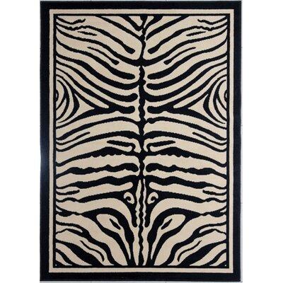 Devita Black Area Rug Rug Size: Rectangle 53 x 72