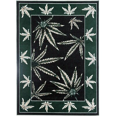 Tallman Emerald Green Area Rug Rug Size: Rectangle 53 x 72