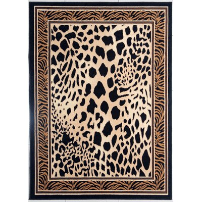 Devaughn Black/Brown Area Rug Rug Size: Rectangle 53 x 72