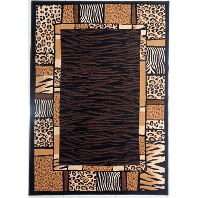 Deutsch Brown Area Rug Rug Size: Rectangle 53 x 72