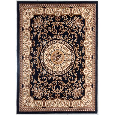 Hairston Black/Brown Area Rug Rug Size: Rectangle 711 x 910