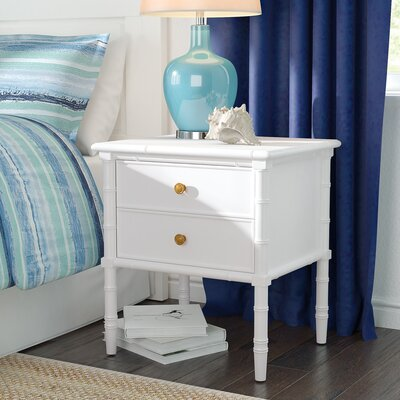 Aylin 2 Drawer Nightstand Color: White