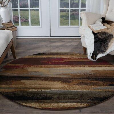 Hartle Brown/Beige Area Rug Rug Size: Round 8