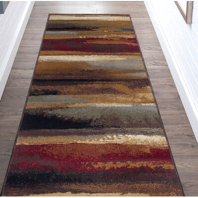 Hartle Brown/Beige Area Rug Rug Size: Runner 3 x 10