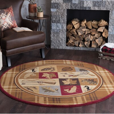 Clifford Brown Area Rug Rug Size: Round 6
