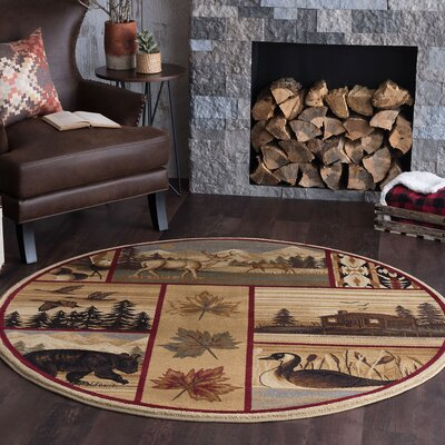 Littlefield Brown/Beige Area Rug Rug Size: Runner 2' x 8'