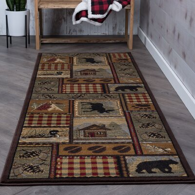 Alers Brown Area Rug Rug Size: Runner 3 x 10